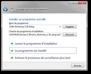 Total Uninstall - Installation du programme de surveillance