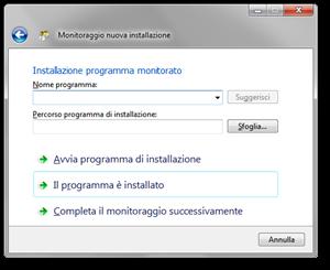 Total Uninstall - Installazione del programma monitorato