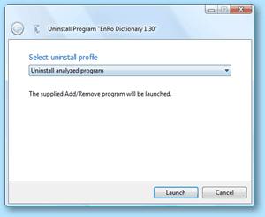 Total Uninstall - disinstallazione del programma analizzato