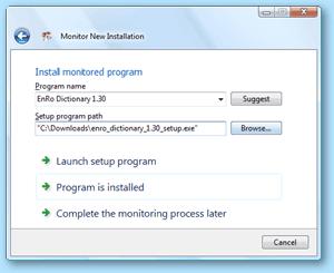 Total Uninstall - Установка отслеженной программы